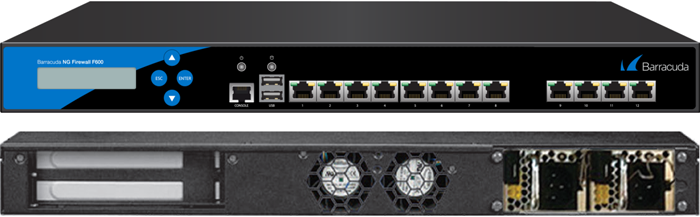 BNGF600a.C20 - Barracuda NextGen Firewall F600 model C20 (12 RJ45 network ports and dual power supply)