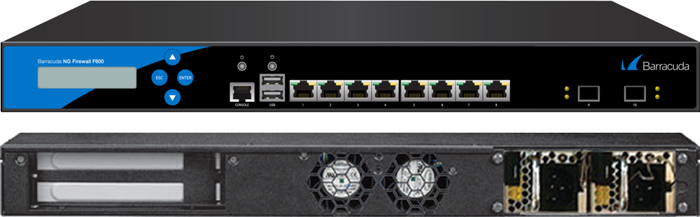 BNGF600a.E20 - Barracuda NextGen Firewall F600 model E20 (8 RJ45 + 2 SFP+ 10 GbE (fiber) network ports and dual power supply)
