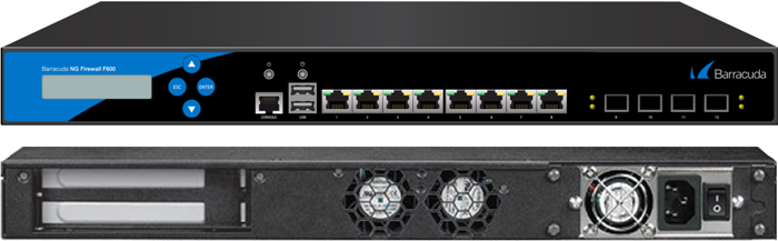 BNGF600a.F10 - Barracuda NextGen Firewall F800 model CCF (12x1 GbE copper + 4x1 GbE SFP (fibre) network ports and dual power supply)