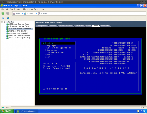 Barracuda Ssl Vpn Firewall 480 Vx Virtual Appliance