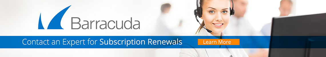 Barracuda - Contact an Expert for Subscription Renewals